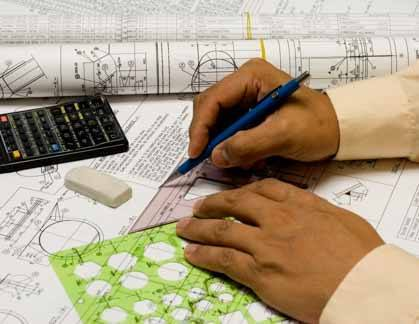A CAD Drafter Uses A Triangle To Work On Plans
