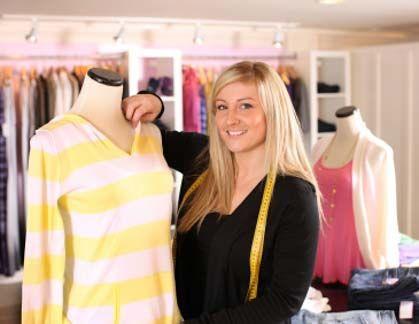 fashion designer prepping mannequin