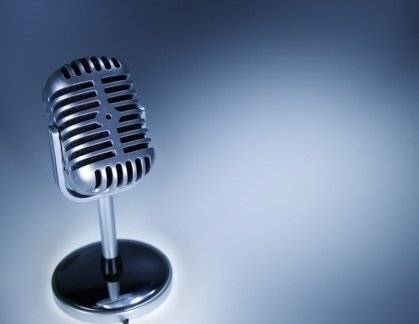 microphone representing professional industry interview