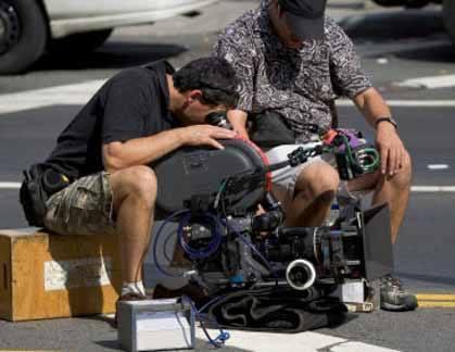 film crew shooting on the street