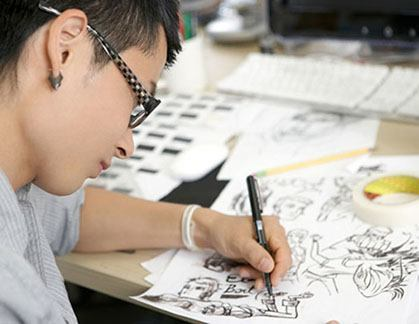 animator creating characters